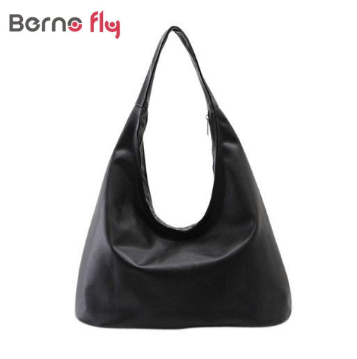 New Women Shoulder Bags Hobos Designer Handbags For Women Black PU Leather Bags Ladies Messenger Bags Bolso Messenger Bags