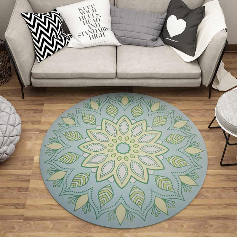 Европейский стиль модный круглый ковер журнальный столик спальня гостиная ковер сад детский коврик компьютерный стул для поворотного Кресла Подушка