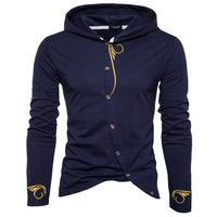 Men Hoodies 2017 Sudaderas Hombre Hip Hop Mens Brand Stitching Embroidery Cardigan Hoodie Sweatshirt Slim Fit
