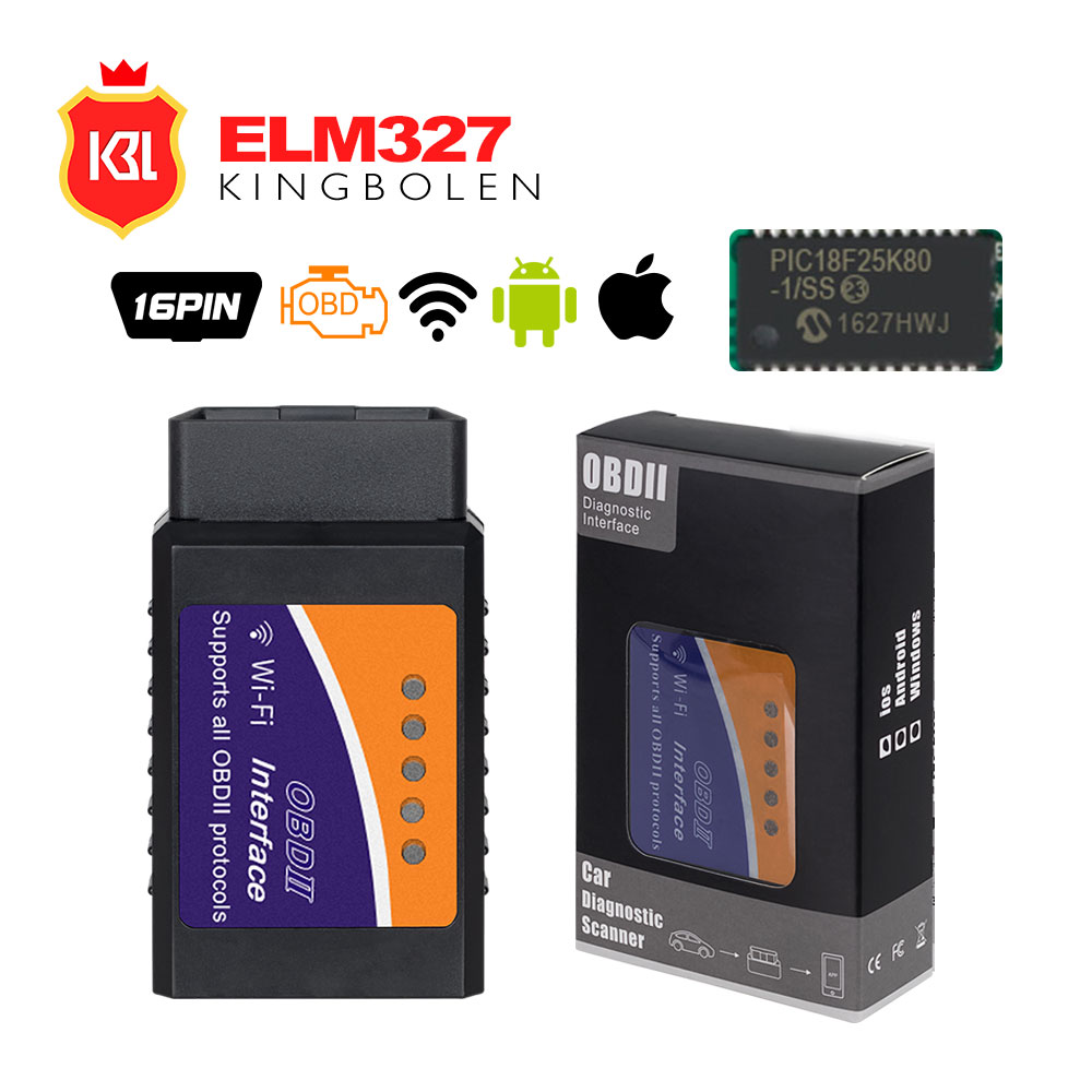 Новый пакет ELM327 V1.5 Bluetooth/WI-FI с pic18f25k80 чип для Android IOS инструмент диагностики ELM327 Bluetooth V1.5 OBD2 сканер