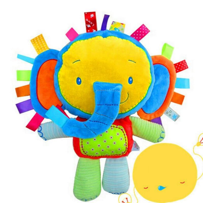 Jjovce 1 предмет мягкие детские погремушки животного плюшевые куклы младенца детские развивающие подарок развития Игрушечные лошадки 8 видов ...