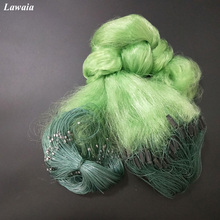 Lawaia Green Fishing Net 3 Layers Fish Gill With Float 25M 50M Soft Line Sticky Trap Network Outdoor Tool