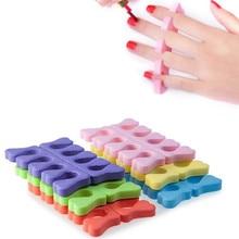 30pcs (15 pairs) EVA foam toe separator Soft foam Nail Tools Toe Finger Separator feet care braces & supports nails tools BO