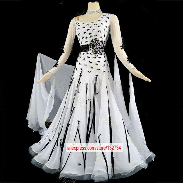 fdd24f076 Free Customized Dance Dress. Adult blue ballroom dance competition dresses  ballroom waltz dresses standard dance dress women ba