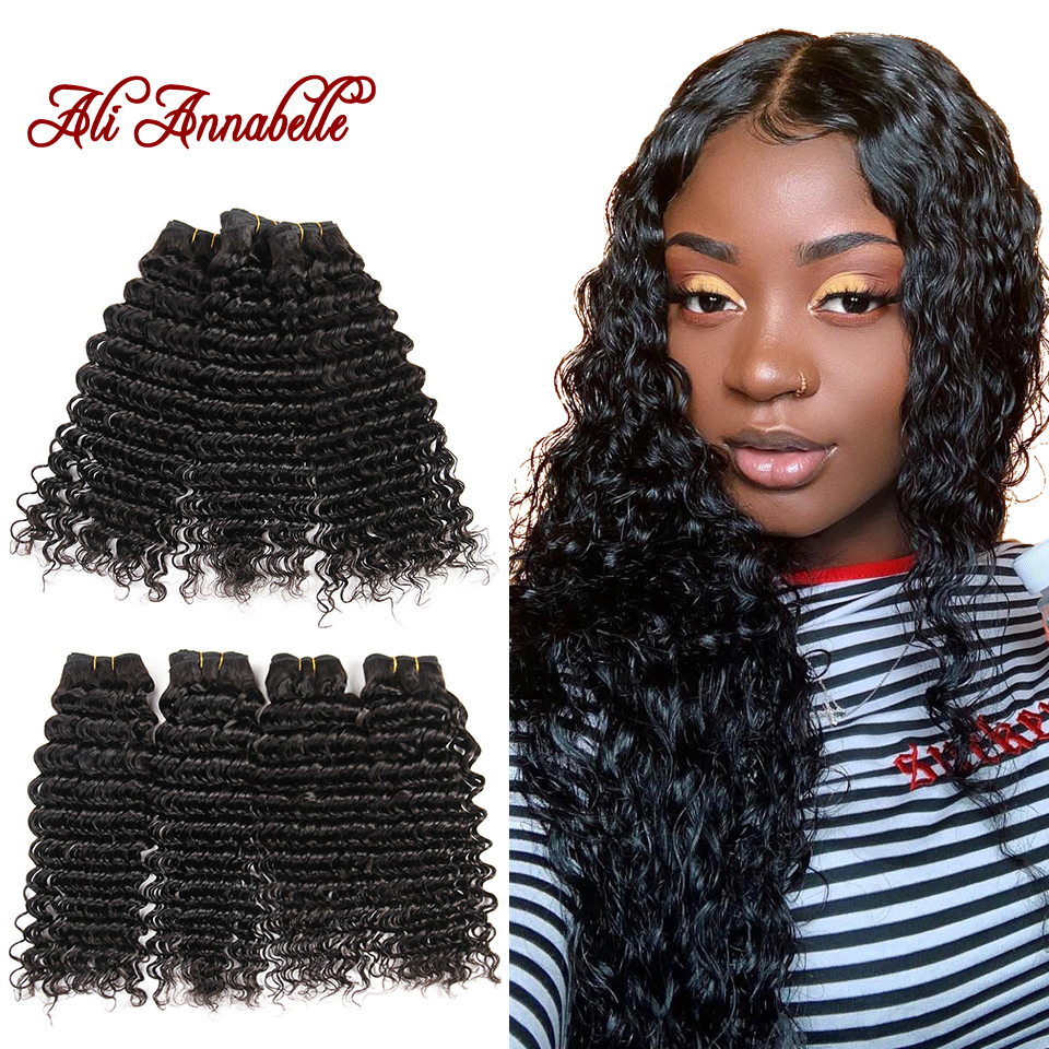 Mongolian Deep Wave Bundles Virgin Hair Weave Bundles 100 Human Hair Extension 3 4 Pieces Natural