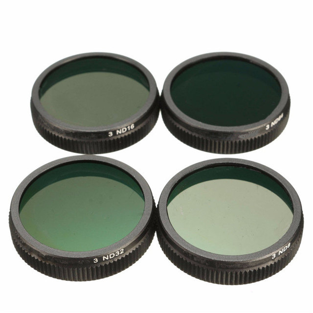 4Pcs Circular ND8 ND16 ND32 ND64 Lens Filter For DJI for Phantom 3 for Quadcopter Camera New ABS+Glass
