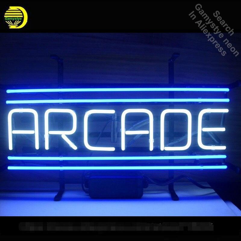 Enseigne au néon pour ARCADE ampoules au néon personnalisées signe artisanat vrais tubes en verre décorer salle de jeu lumières signes électroniques personnalisés