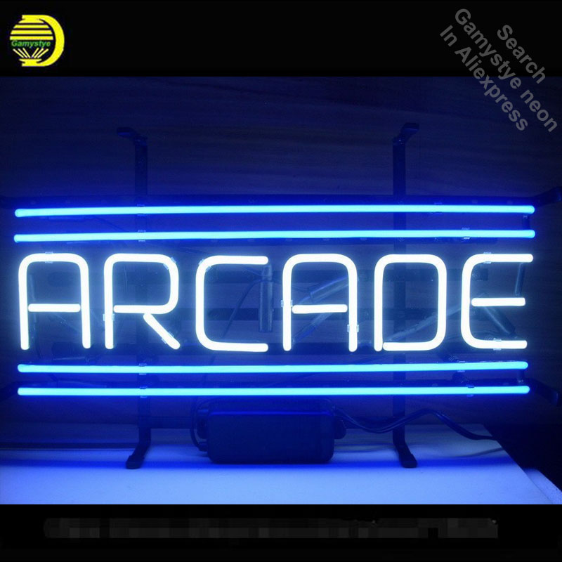 Neon Sign for ARCADE Custom Neon Bulbs sign handcraft Real Glass tubes Decorate Game Room lights personalized electronic signs neon sign open live nudes sexy girl neon light sign decorate real glass tube neon bulb arcade neon sign glass store display17x14