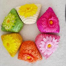 짚으로 뜨개질 꽃 동전 pures 비치 지갑 크로스 바디 가방 어린이 작은 핸드백 미니 파우치 bolso bolsa 유치원 소녀에 대한