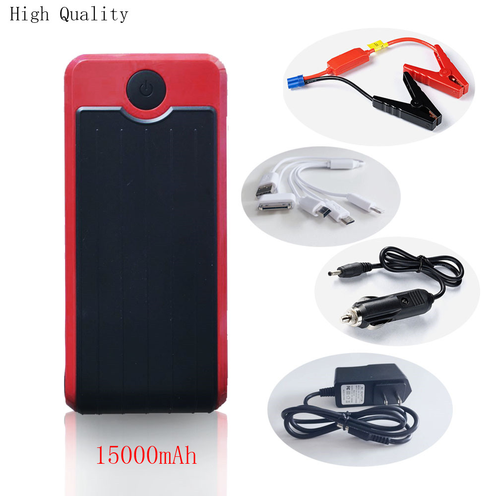 2017 August 15000mAh Best Car Jump Starter High Power Bank Portable Car Charger Multi-function Emergency Auto Battery Booster