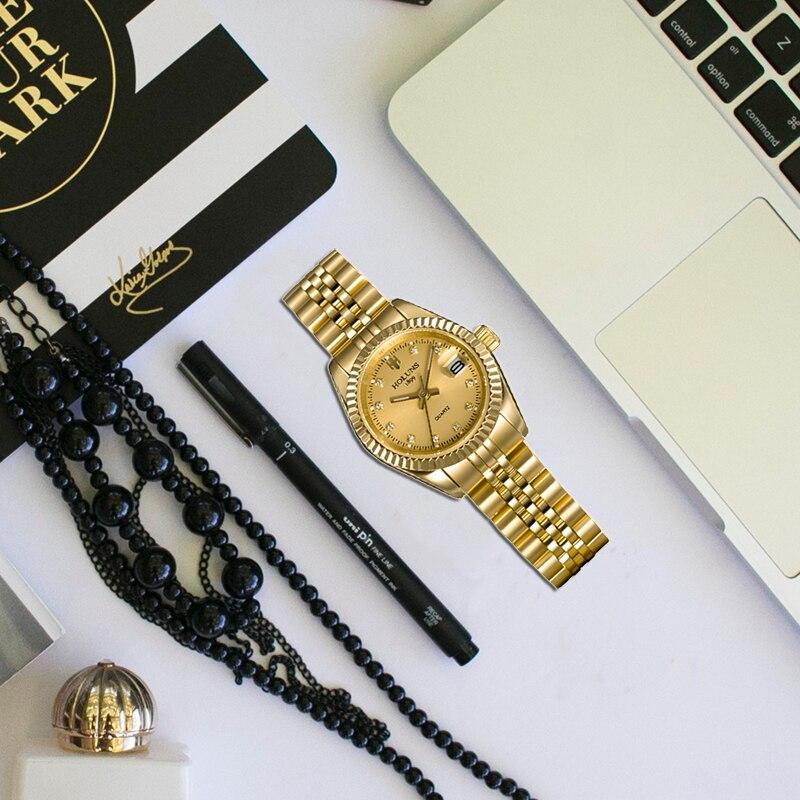Kobiety zegarki Relogio Feminino 2019 złoty diament rolę bransoletka damska na rękę ekskluzywny zegarek dziewczyna zegarek kwarcowy eleganckie klasyczne zegarki dla kobiet w Zegarki damskie od Zegarki na  Grupa 2