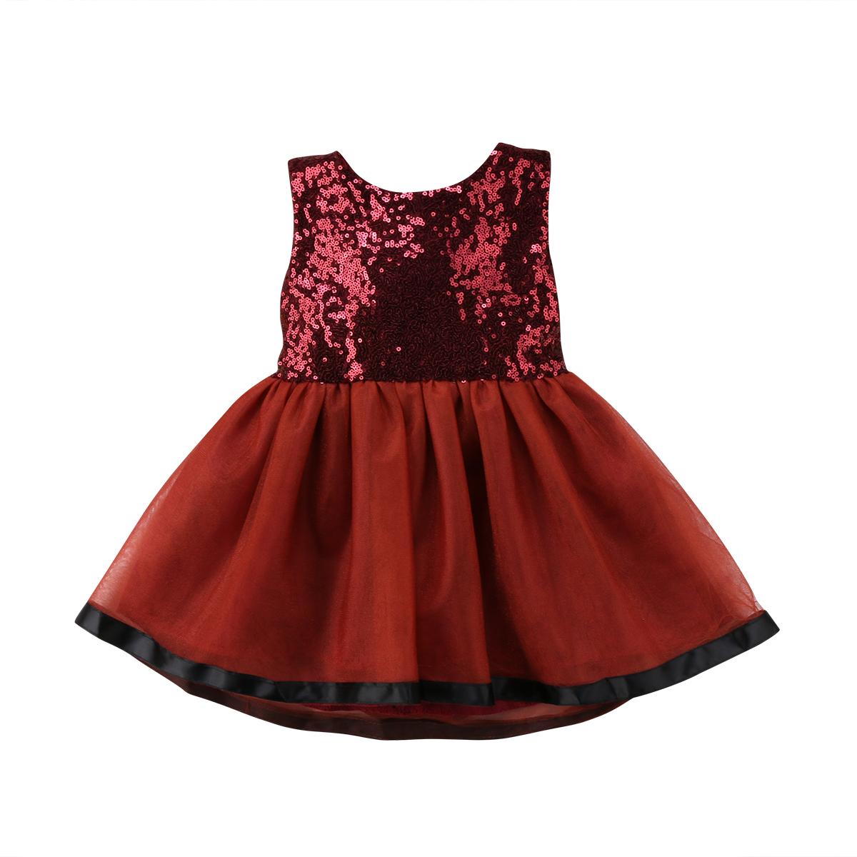 Toddler Baby Girl Princess Wedding Lace Tutu Dress Clothing Kids Party Sequins Sleeveless Prom Summer Dresses Vestidos Clothes