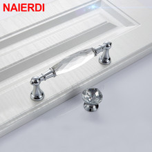 NAIERDI Luxury Diamond Crystal Handles Cabinet Closet Door Drawer Knobs Wardrobe Single Hole Furniture Handle