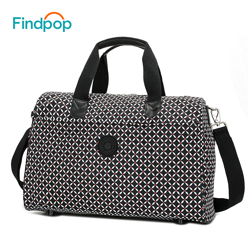 Findpop Women Travel Bags Large Capacity Plaid Luggage Bags 2018 Fashion Designer Waterproof Nylon Business Traveling