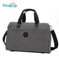 Findpop Women Travel Bags Large Capacity Plaid Luggage Bags 2018 Fashion Designer Waterproof Nylon Business Traveling Duffle Bag