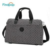 Findpop Women Travel Bags Large Capacity Plaid Luggage Bags 2018 Fashion Designer Waterproof Nylon Business Traveling Duffle Bag