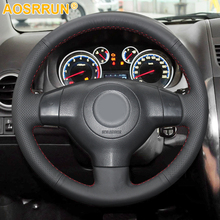 Car Accessories Leather Hand stitched Car Steering Wheel Cover For Suzuki SX4 Alto Old Swift Opel Agila