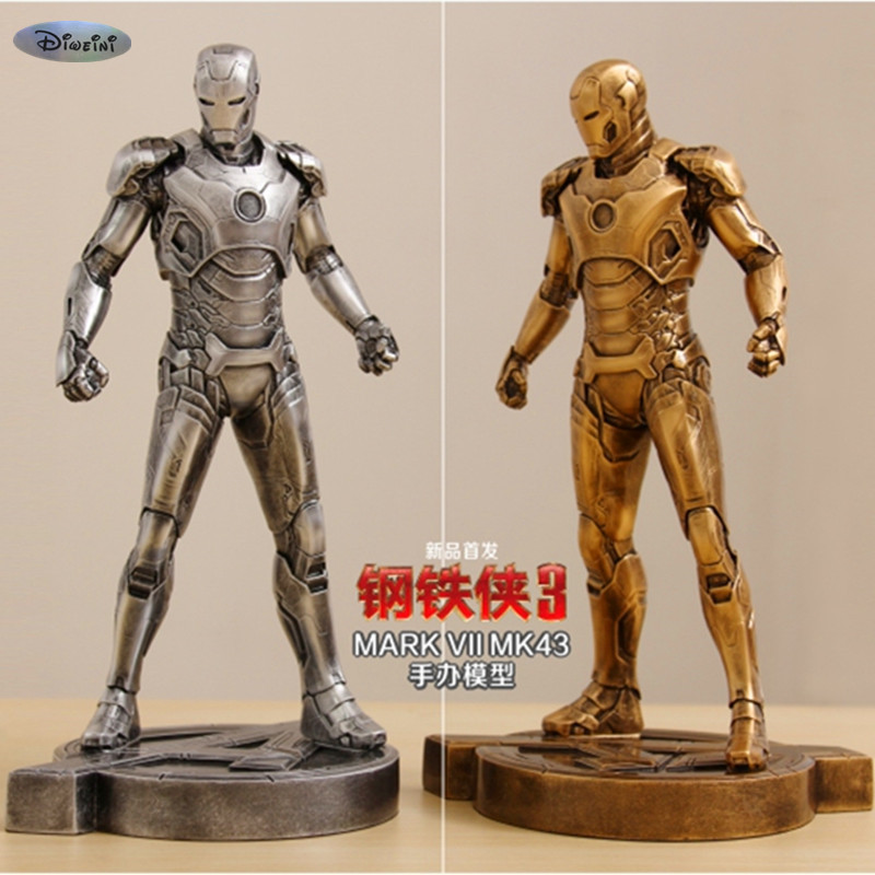 Iron Man1:6 MK43 Imitation Ferrum Or Copper Resin Bust Model MK43 Decoration Statue MARK VII Half-Length Photo Or Portrait WU598 avengers captain america 3 civil war black panther 1 2 resin bust model panther statue panther half length photo or portrait