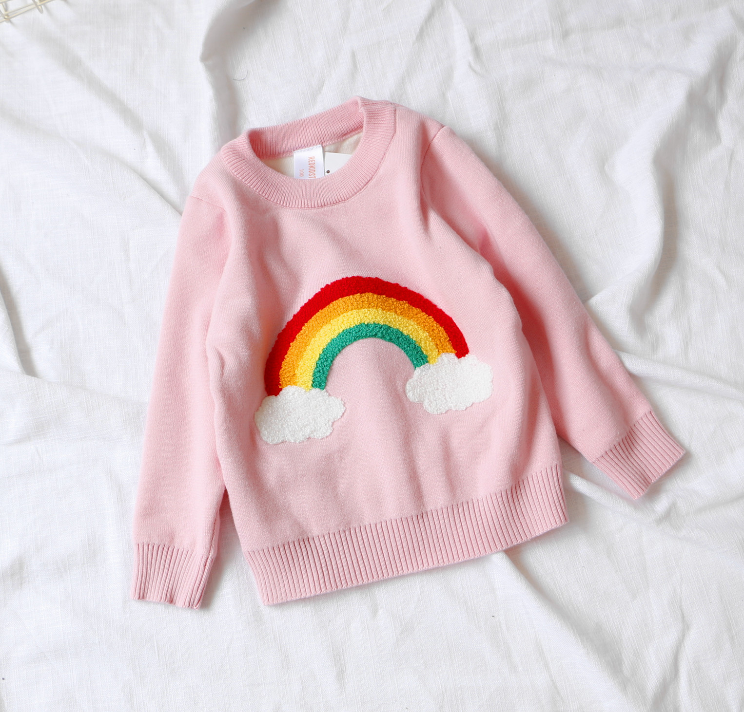Autumn Baby Girls Sweater Jumper Knitwear Rainbow Cloud Long-Sleeve Pullover for Girls Kids Toddler Sweater Children's Clothing недорго, оригинальная цена
