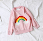 Autumn Baby Girls Sweater Jumper Knitwear Rainbow Cloud Long-Sleeve Pullover for Girls Kids Toddler Sweater Children's Clothing