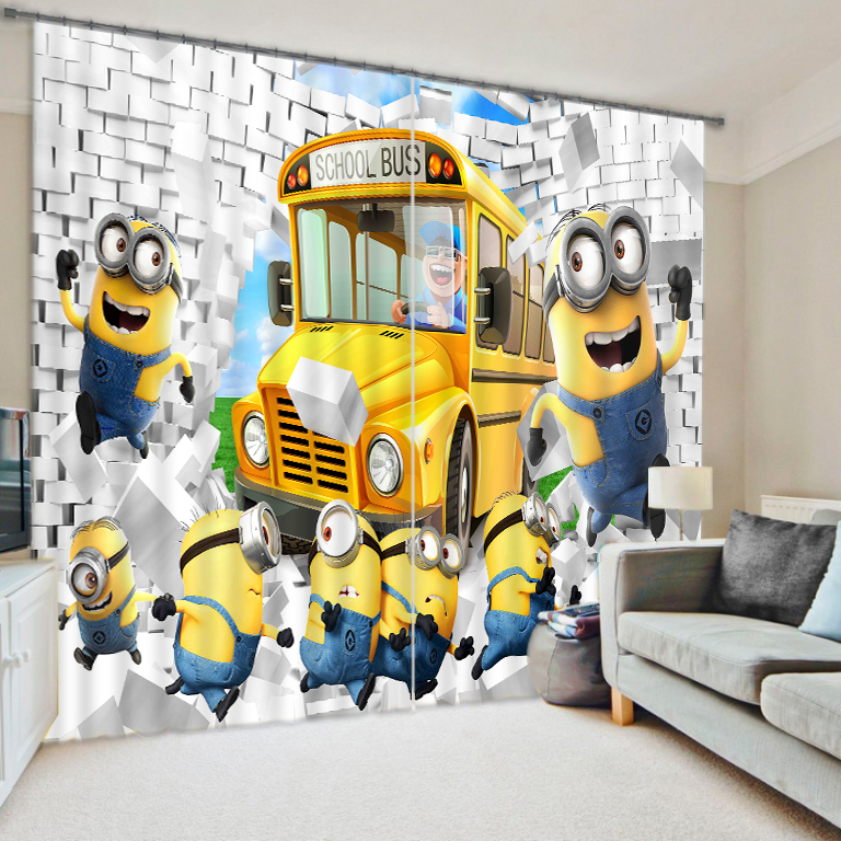2017 Cartoon Anime Print 3D Blackout Curtains For Kids Boys Girls Bedding Room Living Drapes Cotinas Para Sale