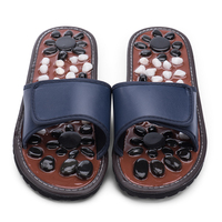 BYRIVER Chinese Acupressure Therapy Medical Rotating Foot Massager Non slip Summer Indoor Slipper Cobblestone Massage Shoes