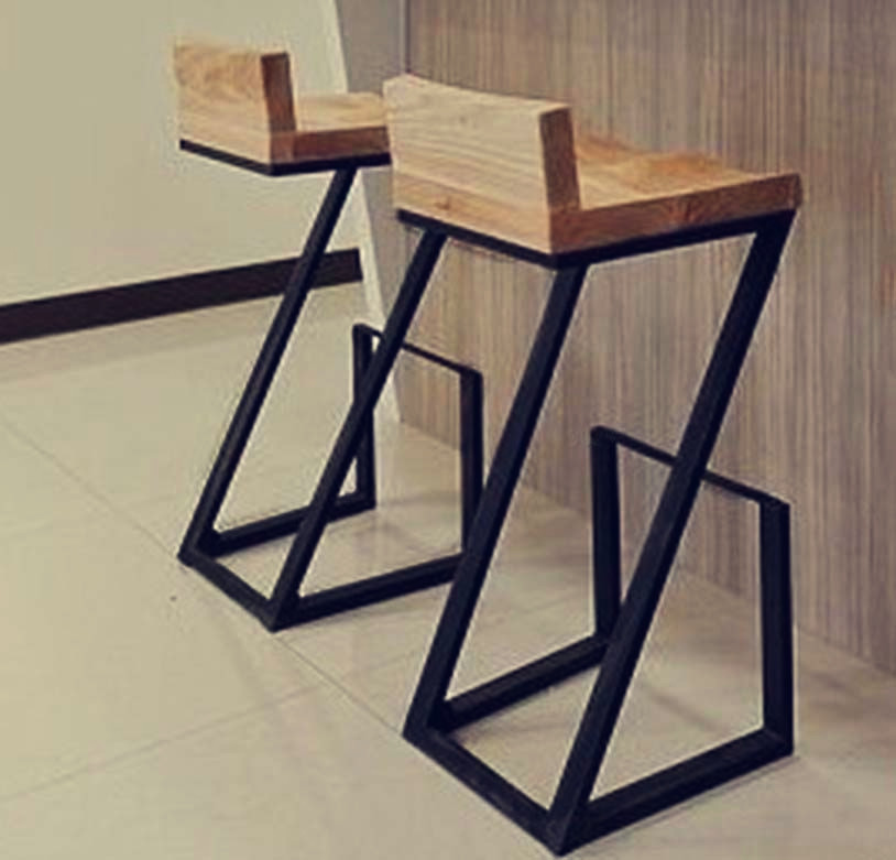 Creative American Wood To Do The Old Wrought Iron Bar Stool Stools Retro Highchair Coffee Lounge Chair In From Furniture On