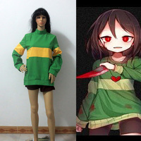 Undertale Protagonis Chara Cosplay Costume Customize Free Shipping