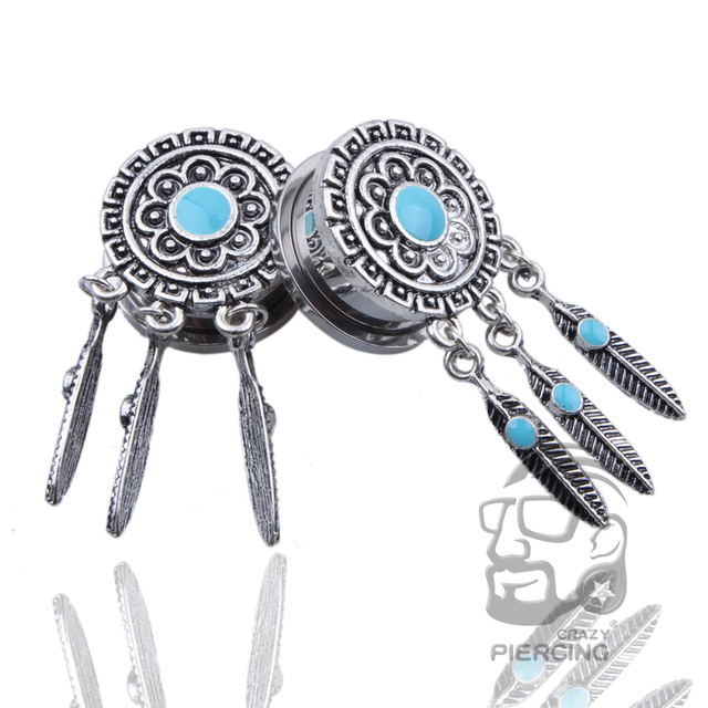 40 Piece Steel Spiral Earbuds And Tunnels Dream Catcher Ear Cool Dream Catcher Tunnels
