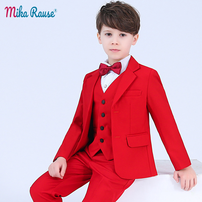 887e10c38a3f6 5pcs/set children suit boys blazers kids wedding suits for boy black blazer  teenage clothes formal costume mariage enfant garcon