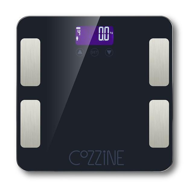 COZZINE 150 kg di Grasso Corporeo Bilancia LED Digitale del Peso di Misura  In Vetro Temperato 4481c2d1d58