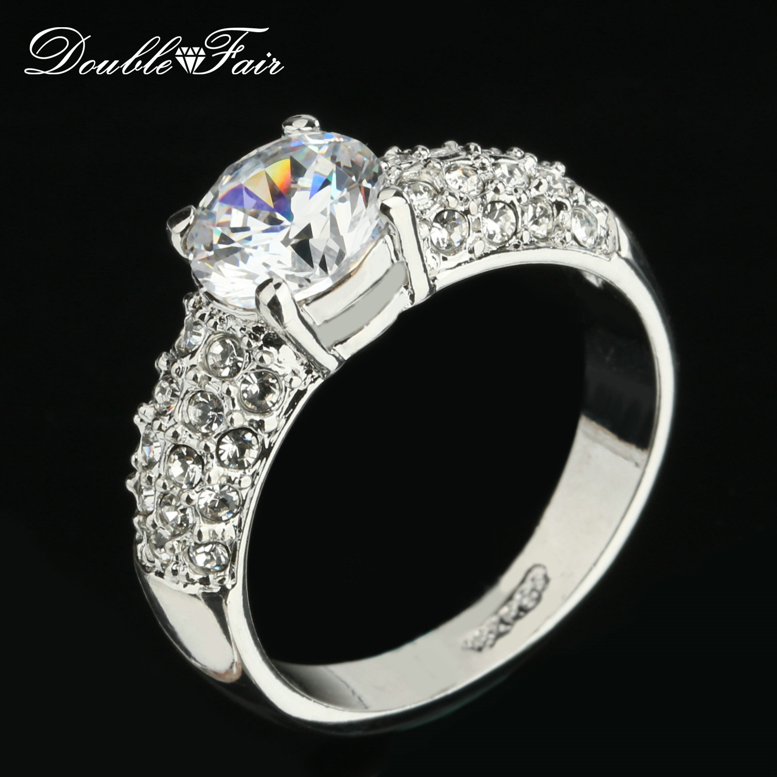 pare Prices on Vintage Cubic Zirconia Engagement Rings line