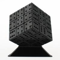 LeadingStar 3x3x3 DIY Bandaged Cube Black Magic Cube With Plastic Color Stickers Brain Teaser Puzzle Cube