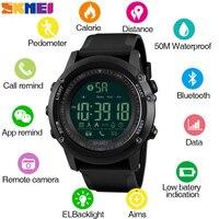 SKMEI smartwatch hombre Mens Bluetooth Camara Controllo Orologio Da Polso Da Uomo Intelligente Digitale di Sport Maschio Orologi Orologio reloj hombre 1321