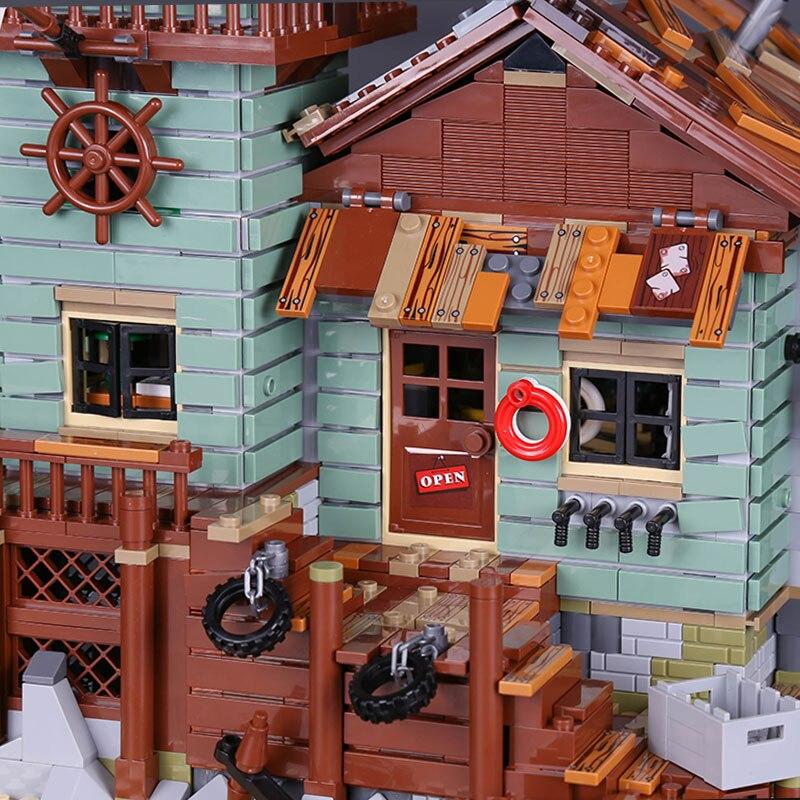 Idées créateur MOC série ancien magasin de pêche ensemble Compatible legoingLYs 21310 blocs de construction briques maison jouets enfant cadeaux de noël - 4