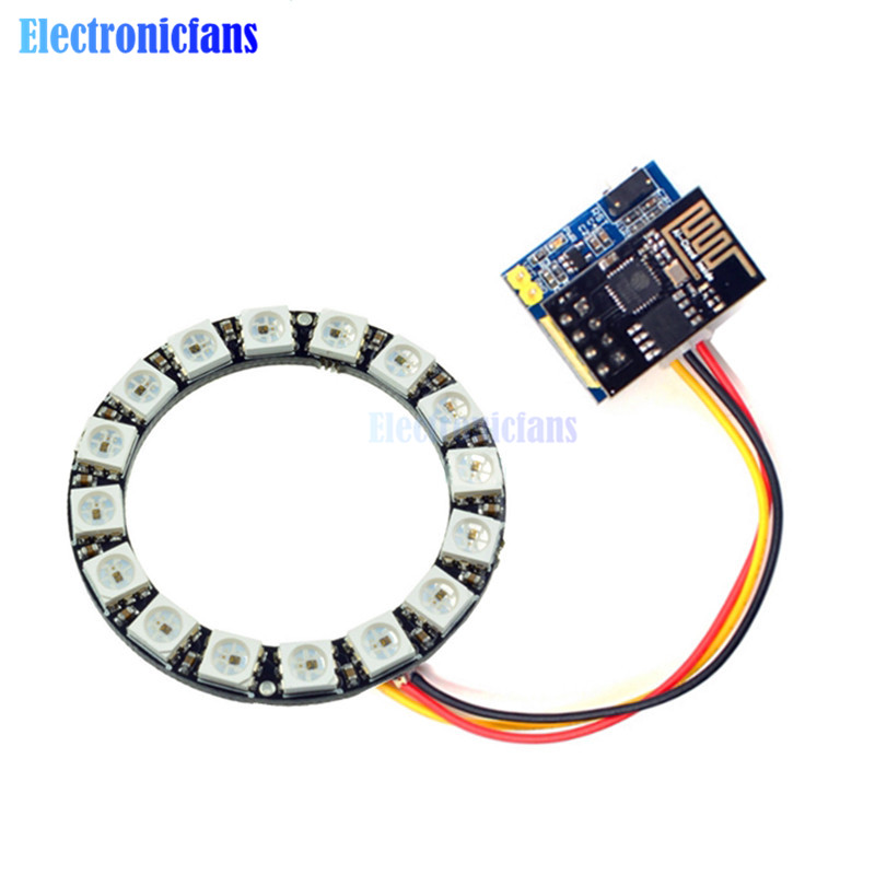 Electronic Components & Supplies Esp8266 Esp01 Esp-01 Rgb Led Controller Adpater Wifi Module For Arduino Ide Ws2812 Ws2812b 5050 16 Bits Light Ring Christmas Diy Limpid In Sight Active Components