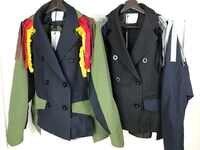 2019 hohe qualität frauen patchwork jacke mantel 2 farbe rmsx 1,18