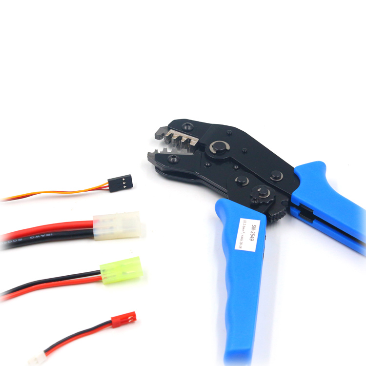 1PCS 28-14AWG Crimper SN2549 Terminal Spring Clamp Crimping Tools Crimping Pliers for RC Model Tamiya Dupont JST Cpnnector Plugs [vk] dupont pin crimping tool pliers 2 54mm 28 18 awg crimper 0 1 1 0m2 terminal dedicated