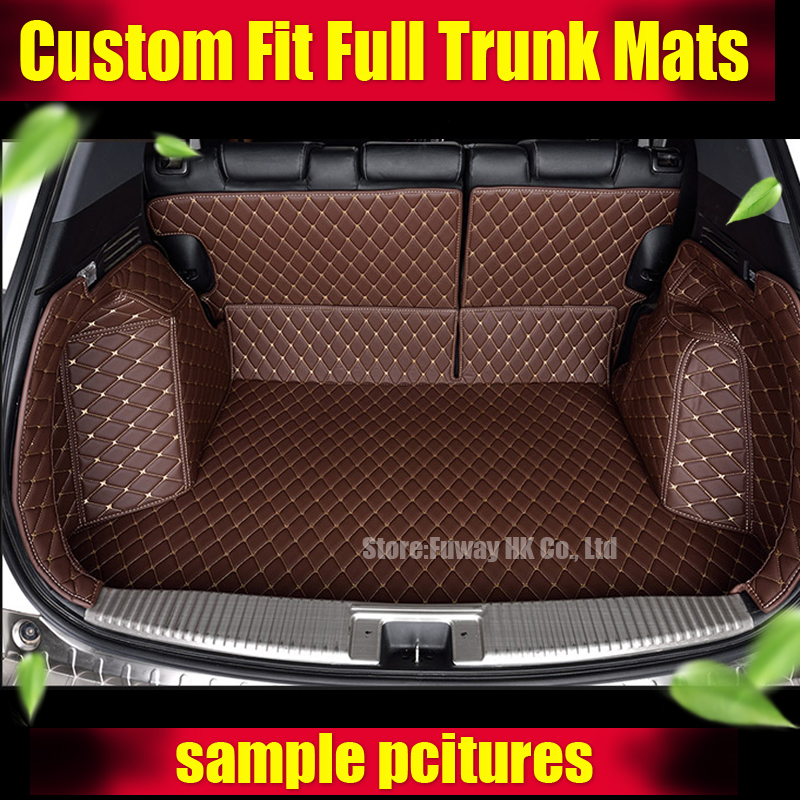 Custom fit car trunk mats for BMW 3/4/5/6/7 Series M3 X1 X3 X4 X5 X6 3D car-styling all weather tray carpet cargo liner  thicken custom cargo liner car trunk mat carpet interior leather mats pad car styling for dodge journey jc fiat freemont 2009 2017