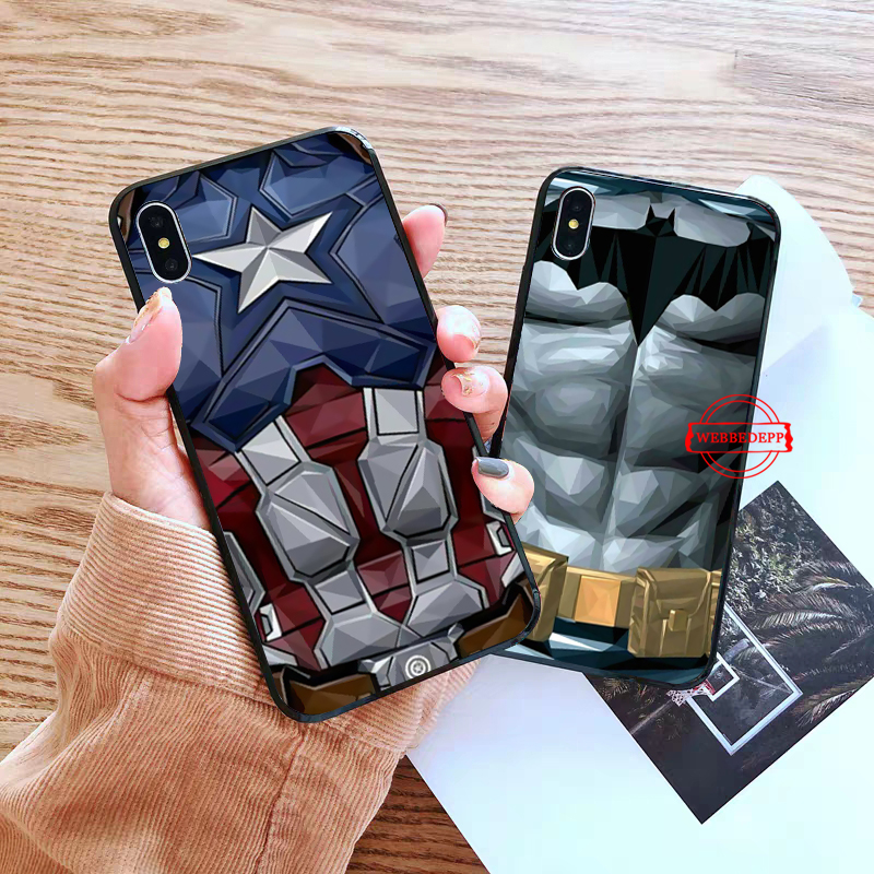 WEBBEDEPP Marvel Captain America Iron Man Heroes Silicone soft Case for iPhone 5 SE 5S 6 6S Plus 7 8 X XS Max XR in Fitted Cases from Cellphones Telecommunications