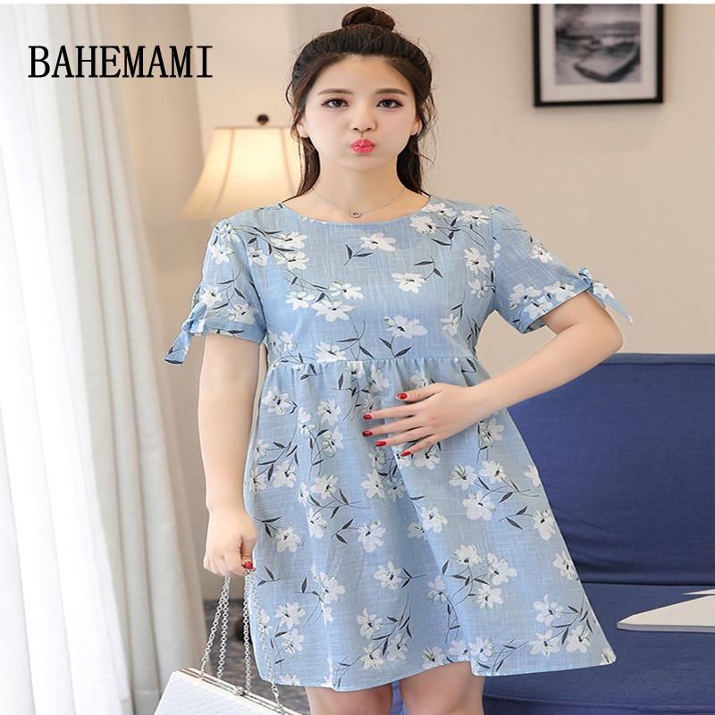 BAHEMAMI 2018 Breastfeeding Dress Vestidos print Maternity Dresses Pregnancy Clothes Nursing Dress for Pregnant Women clothing