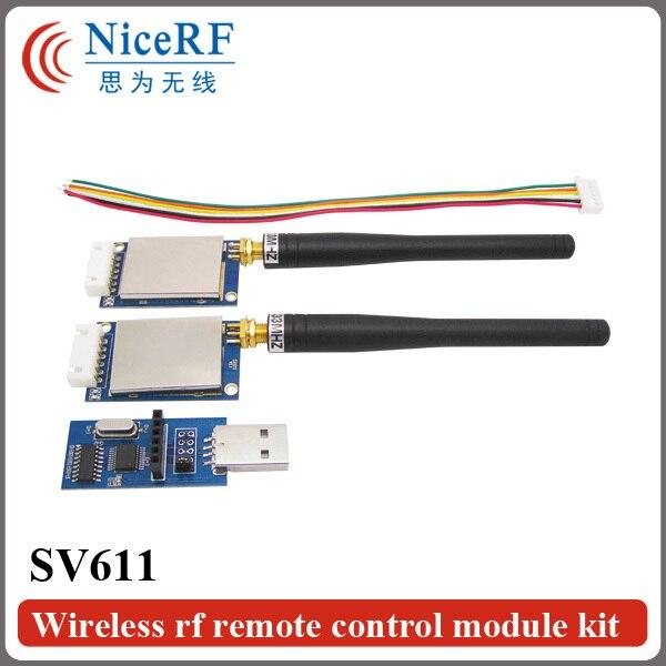 2 шт./лот SV611 470 МГц Интерфейс RS485 100 МВт Промышленного класса и высокой степенью интеграции РФ модуль приемопередатчика