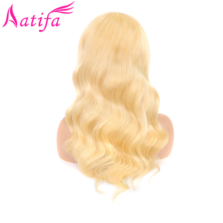 Malaysian Honey Blonde 613 Body Wave Wig Lace Front Human Hair Wigs Medium Size With Baby Hair Remy Human Hair Free Shipping