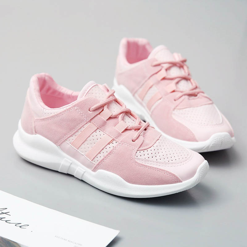 Breathable ladies sneakers 2019 new casual shoes non slip flat women 39 s tennis shoes low to help casual shoes running shoes in Women 39 s Vulcanize Shoes from Shoes