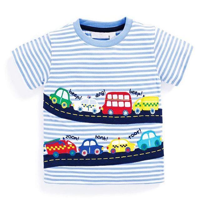 100% хлопок футболки для мальчиков Детская футболка рубашка FILLE 2017 брендовые летние детские футболки для Одежда для мальчиков узор для маленьких мальчиков топы