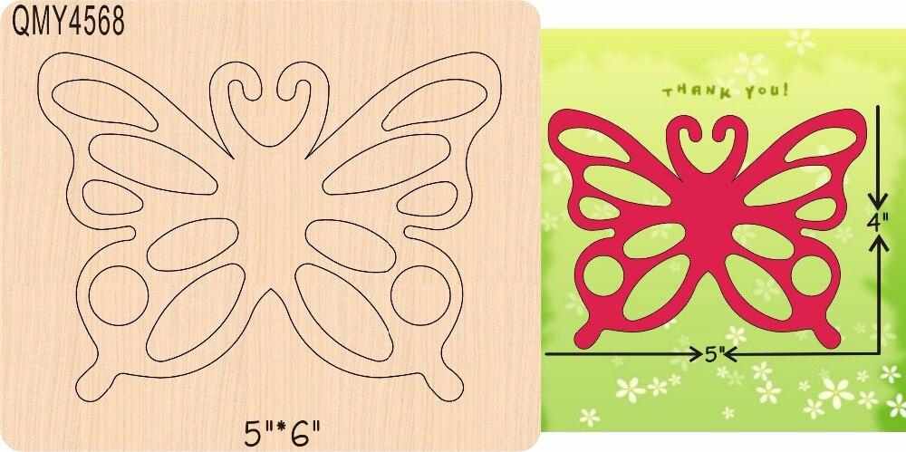 Papillon 2 nouveau en bois moule matrices de découpe pour scrapbooking Thickness-15.8mm