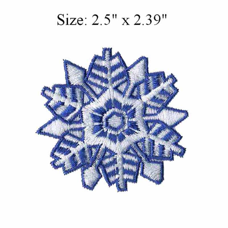 Snowflake embroidery patch 2.5 wide /Christmas gift /paste on broken hole/mechanized