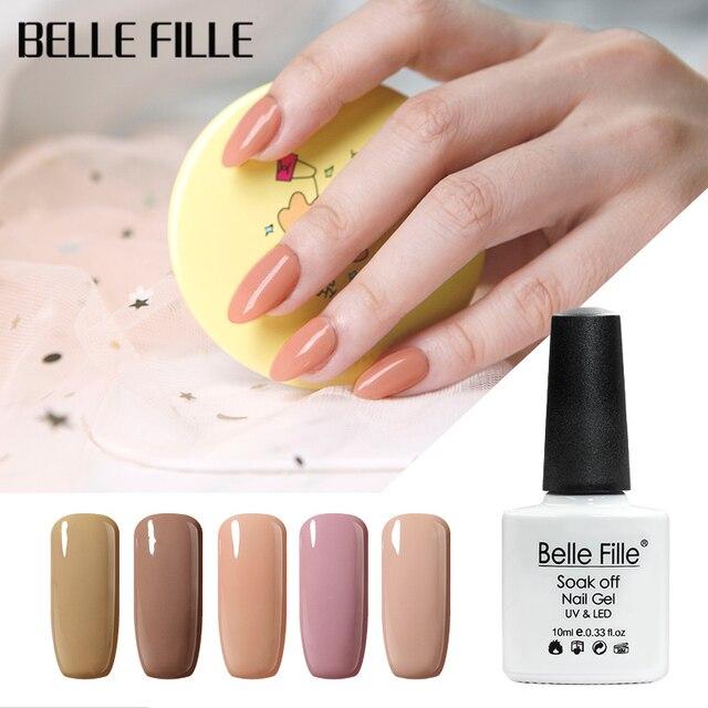 BELLE FILLE 12 Colors 10ml Sky Blue Nude Pink color UV
