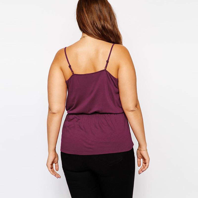 02 Women Camis Tops Slip top Plus Size XXXL 5xl 6xl 4xl V neck Black purple (5)