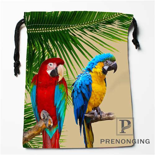 Custom Flowers Birds Drawstring Bags Printing Fashion Travel Storage Mini Pouch Swim Hiking Toy Bag Size 18x22cm 171203-05-07